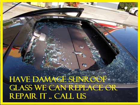 Houston damaged auto sunroof
