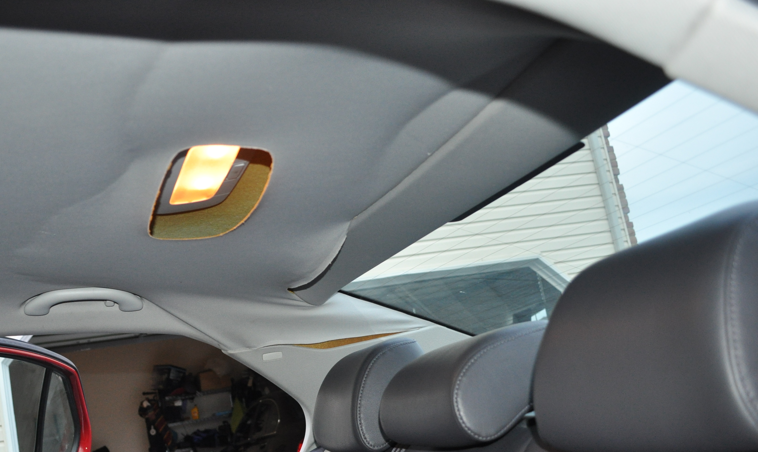 Car interior roof fabric repair how to clean a car ceiling 8 steps with pictures wikihow 2000 Car interior ceiling fabric repair